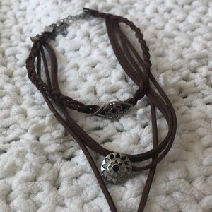 H&M Brown Layering Necklace and Free Bracelet